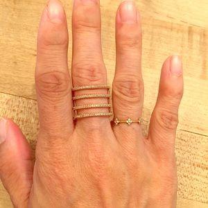 14kt Rose Gold Diamond Cage Ring
